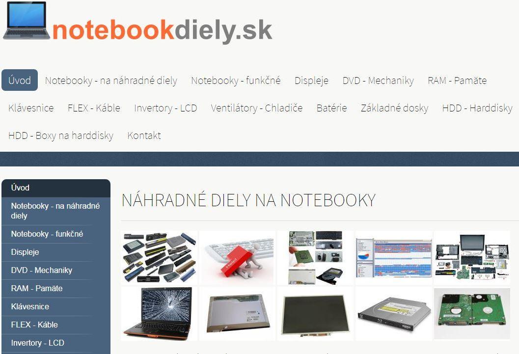 Náhradné diely na notebooky