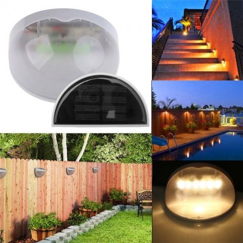 Solárne nástenné LED svietidlo so 6 LED diódami !