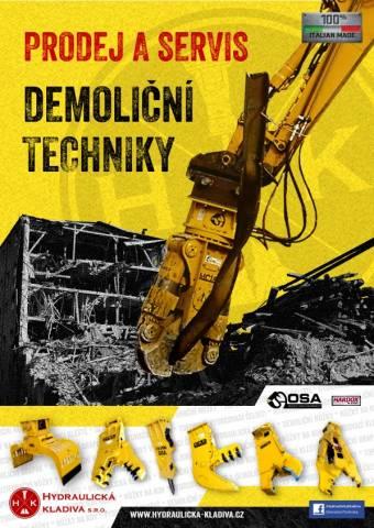 Nabízíme demoliční techniku