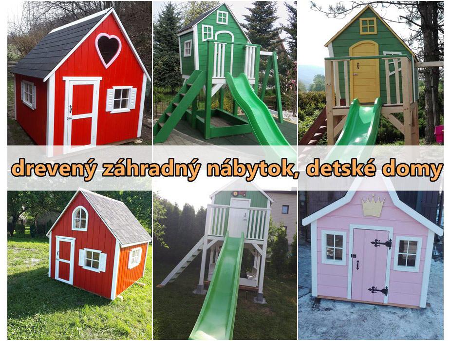 Drevený záhradný nábytok, detské domy - výrobca Poľsko