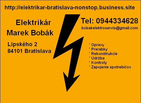 Elektrikár Bratislava - Dúbravka