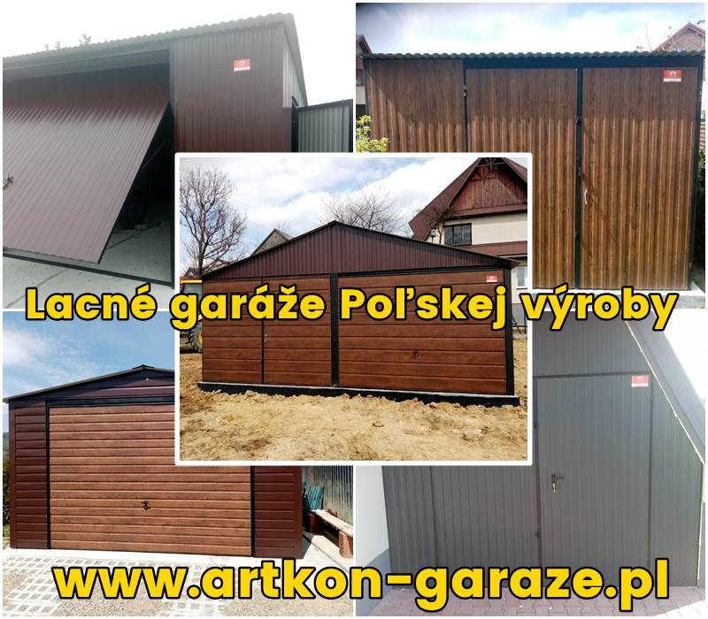 Lacné garáže Poľskej výroby