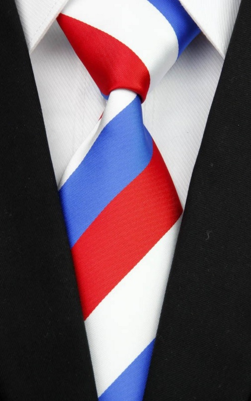 Luxusní trikolor kravata