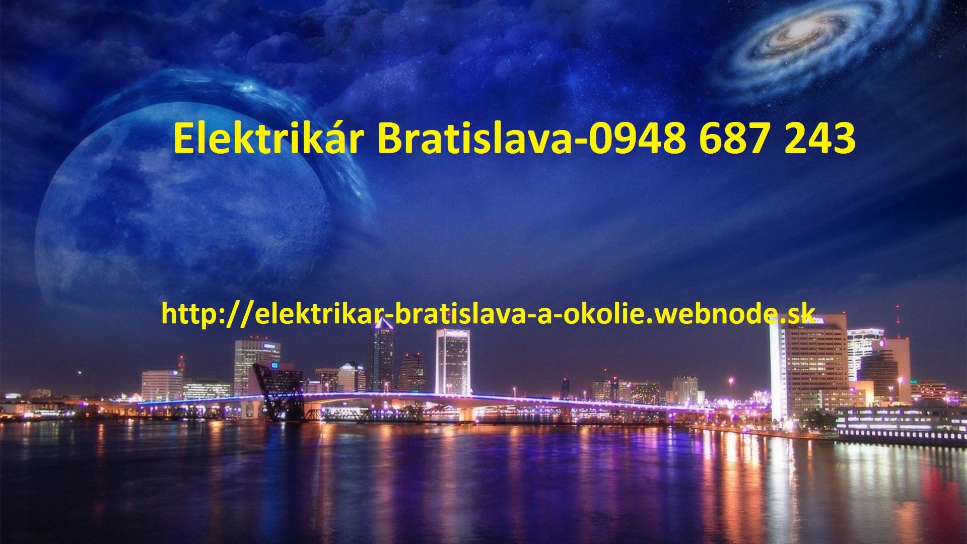 Elektrikár Bratislava a okolie