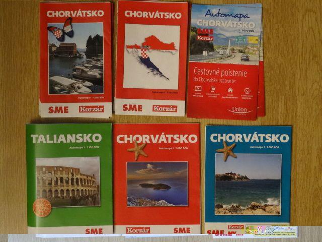 mapy Chorvatsko, Taliansko,Slovensko