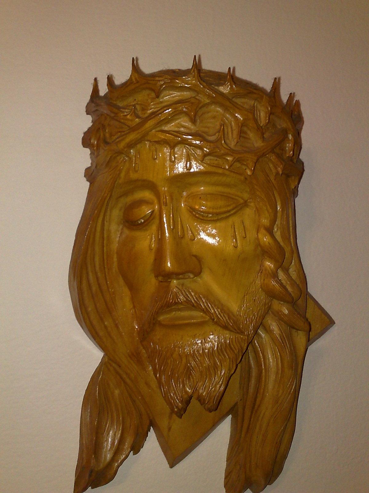 Drevená hlava Ježíša